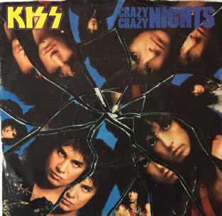 "Kiss ‎- Crazy Crazy Nights (7"") (VG-/G)"